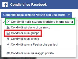 Come condividere annunci su Facebook